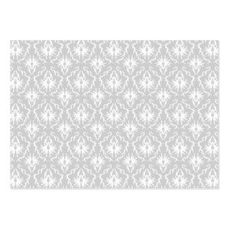 Diseño gris blanco y en colores pastel del damasco tarjetas de visita grandes