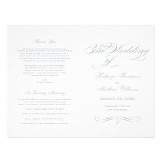"""Diseño gris claro de la caligrafía de los folleto 8.5"""" x 11"""""""