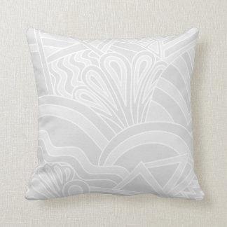 Diseño gris claro del estilo del art déco cojín decorativo