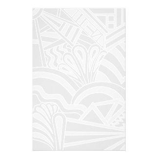 Diseño gris claro del estilo del art déco papeleria
