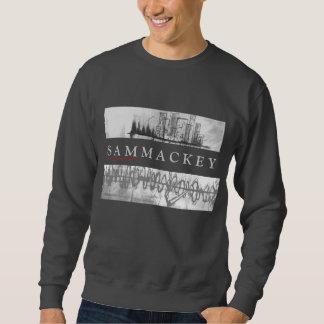 Diseño gris de Crewneck del arte de Sam Mackey Sudadera Con Capucha