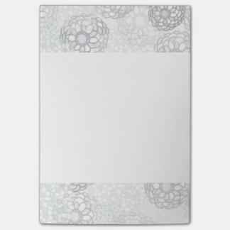 Diseño gris de la explosión de la flor post-it® notas