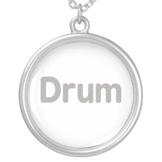 diseño gris de la música del texto del tambor colgante redondo