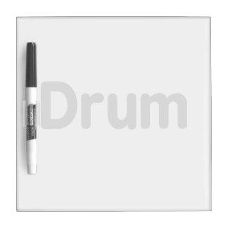 diseño gris de la música del texto del tambor pizarra