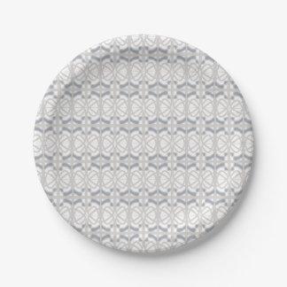 Diseño gris de Nouveau del arte de la placa de Plato De Papel De 7 Pulgadas