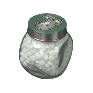 Diseño gris de relajación del dibujo del verde de jarras de cristal