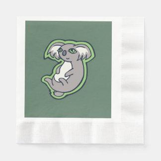 Diseño gris de relajación del dibujo del verde de servilletas desechables
