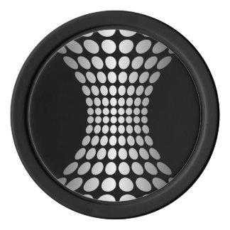 Diseño gris del extracto de los puntos juego de fichas de póquer