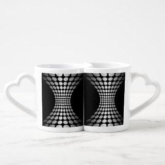 Diseño gris del extracto de los puntos tazas amorosas