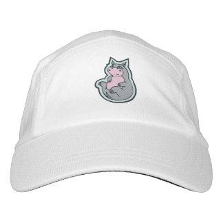 Diseño gris joven feliz del dibujo del hipopótamo gorra de alto rendimiento