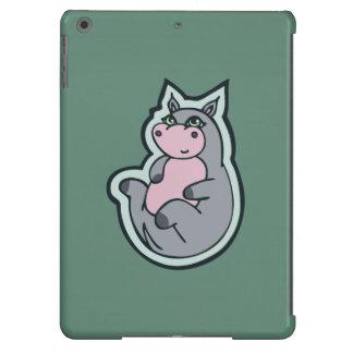 Diseño gris joven feliz del dibujo del trullo del carcasa para iPad air