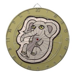 Diseño gris juguetón lindo del dibujo del elefante