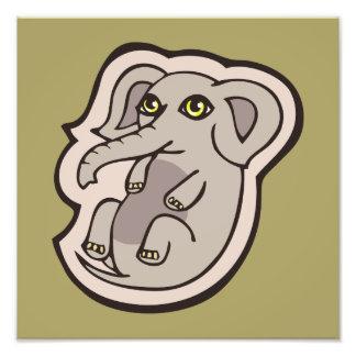 Diseño gris juguetón lindo del dibujo del elefante cojinete