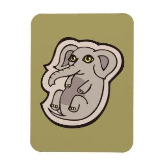 Diseño gris juguetón lindo del dibujo del elefante rectangle magnet