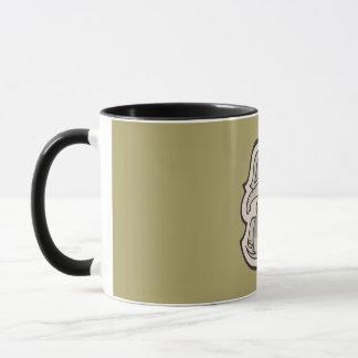 Diseño gris juguetón lindo del dibujo del elefante taza