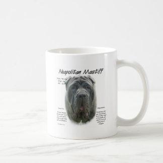 Diseño gris napolitano de la historia del mastín taza