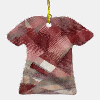 Diseño gris rosado rojo del modelo de las rayas de adorno de navidad