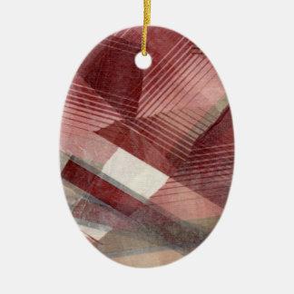 Diseño gris rosado rojo del modelo de las rayas de ornaments para arbol de navidad