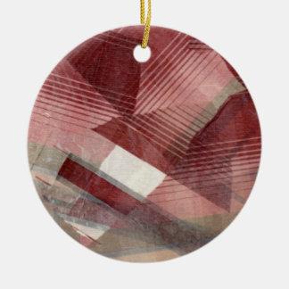 Diseño gris rosado rojo del modelo de las rayas de ornamento de reyes magos