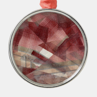 Diseño gris rosado rojo del modelo de las rayas de ornato