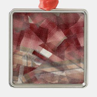 Diseño gris rosado rojo del modelo de las rayas de adorno