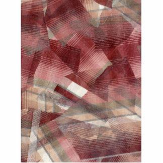 Diseño gris rosado rojo del modelo de las rayas de escultura fotográfica