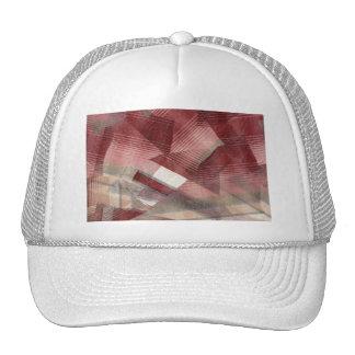 Diseño gris rosado rojo del modelo de las rayas de gorro