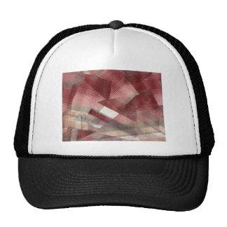 Diseño gris rosado rojo del modelo de las rayas de gorros