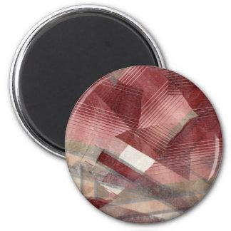 Diseño gris rosado rojo del modelo de las rayas de imán para frigorífico