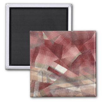 Diseño gris rosado rojo del modelo de las rayas de imán de nevera