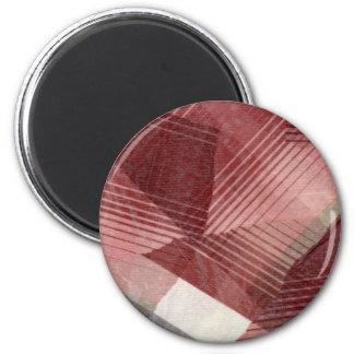 Diseño gris rosado rojo del modelo de las rayas de imanes
