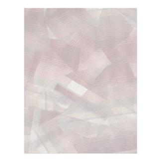 Diseño gris rosado rojo del modelo de las rayas de membrete