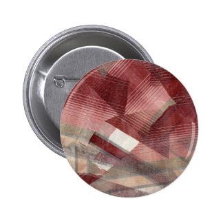 Diseño gris rosado rojo del modelo de las rayas de pin redondo de 2 pulgadas