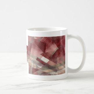 Diseño gris rosado rojo del modelo de las rayas de taza