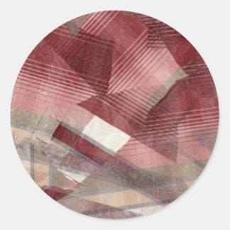 Diseño gris rosado rojo del modelo de las rayas etiquetas redondas