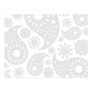 Diseño gris y blanco en colores pastel del modelo postales