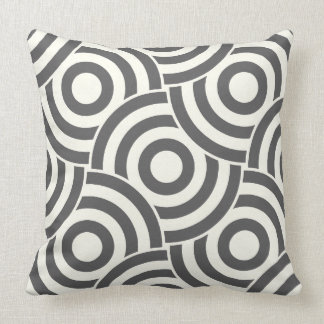 Diseño gris y de marfil PillowModern del vínculo Cojín
