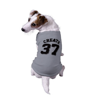 Diseño gris y negro del jersey de los deportes del playera sin mangas para perro