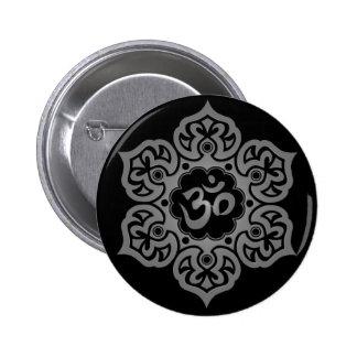 Diseño gris y negro floral de Aum Pins