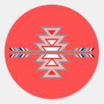 Diseño hacia el sudoeste indio pegatina redonda