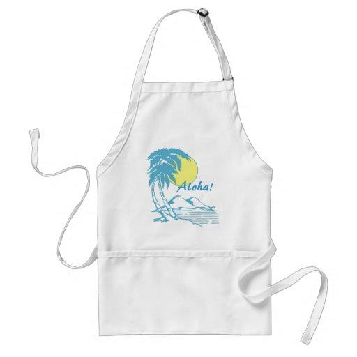 Diseño hawaiano tropical de la hawaiana delantal