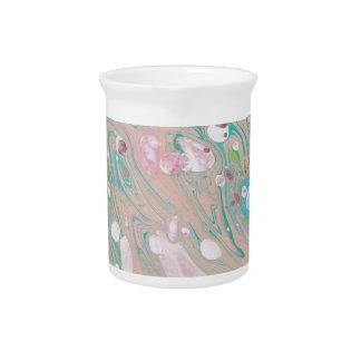 Diseño hecho a mano mano del papel de mármol de Mi Jarrones