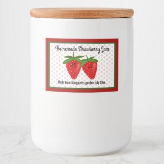 Diseño hecho en casa de la mermelada de fresa