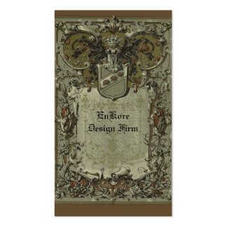 Diseño heráldico plantilla de tarjeta de visita
