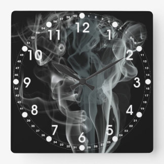 Diseño hermoso blanco y negro abstracto del humo relojes de pared
