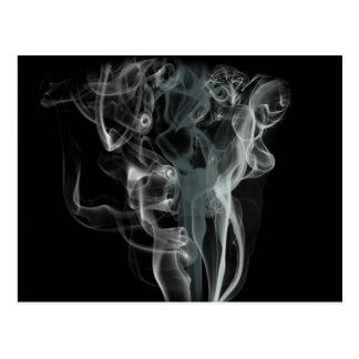 Diseño hermoso blanco y negro abstracto del humo tarjetas postales