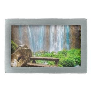 Diseño hermoso de la naturaleza de la cascada hebilla cinturón rectangular