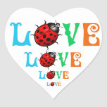 Diseño hermoso de la naturaleza del amor de la pegatinas corazon personalizadas