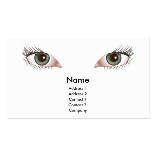 diseño hermoso de la tarjeta de visita de los ojos