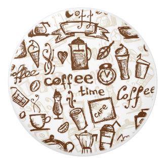 Diseño hermoso del café express del café pomo de cerámica